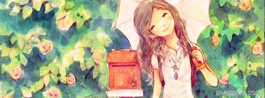 Cute girl smiling at post box cool facebook timeline covers mymfb cute girl smiling at post box cool facebook thecheapjerseys Image collections