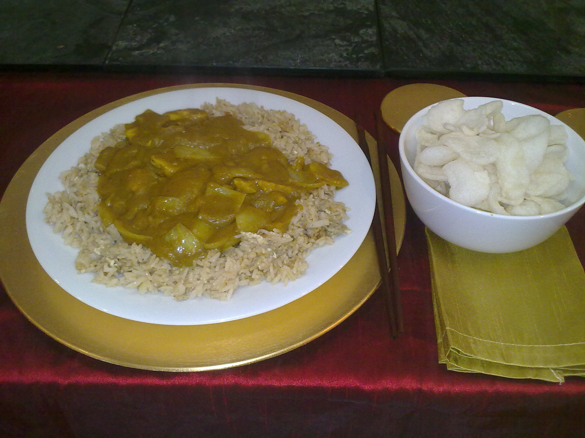 Something is. asian chicken curry recipe